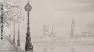 How to Draw the Big Ben - How to draw a Landscape