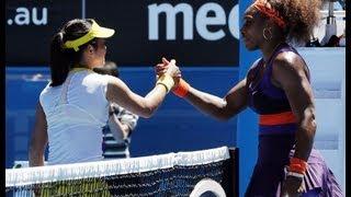 Serena Williams vs Ayumi Morita 2013 Australia 3rd round セリーナウィリアムズ 検索動画 23