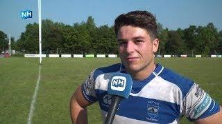 Rugbyer Sam Hoogland stond zondag voor het eerst in de basis bij een finale