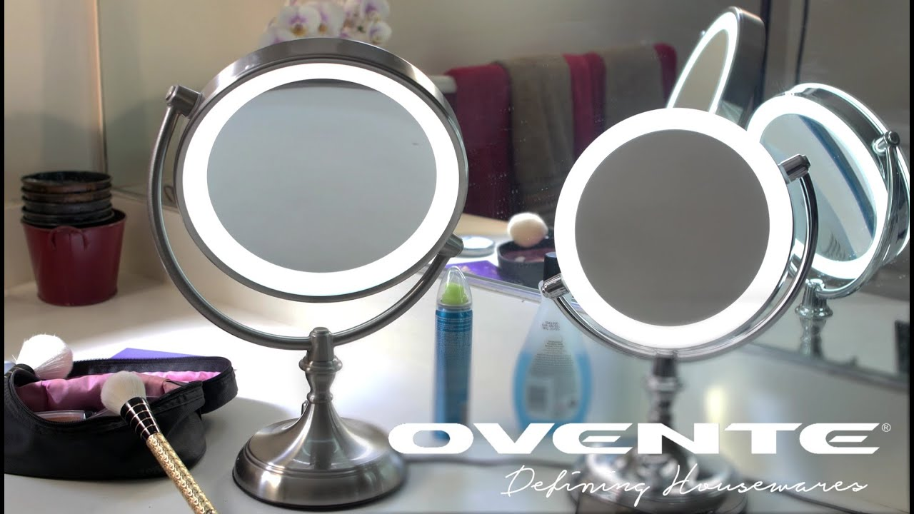 Ovente MGT95BR Dimmable LED Lighted Tabletop Vanity Mirror   YouTube