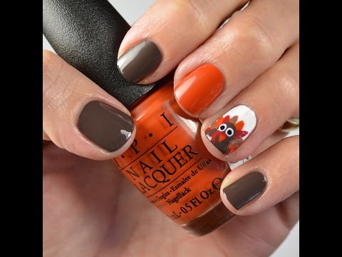 Nail Tutorial: Turkey Nail Design