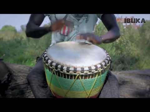 Traditional Djembe drummer