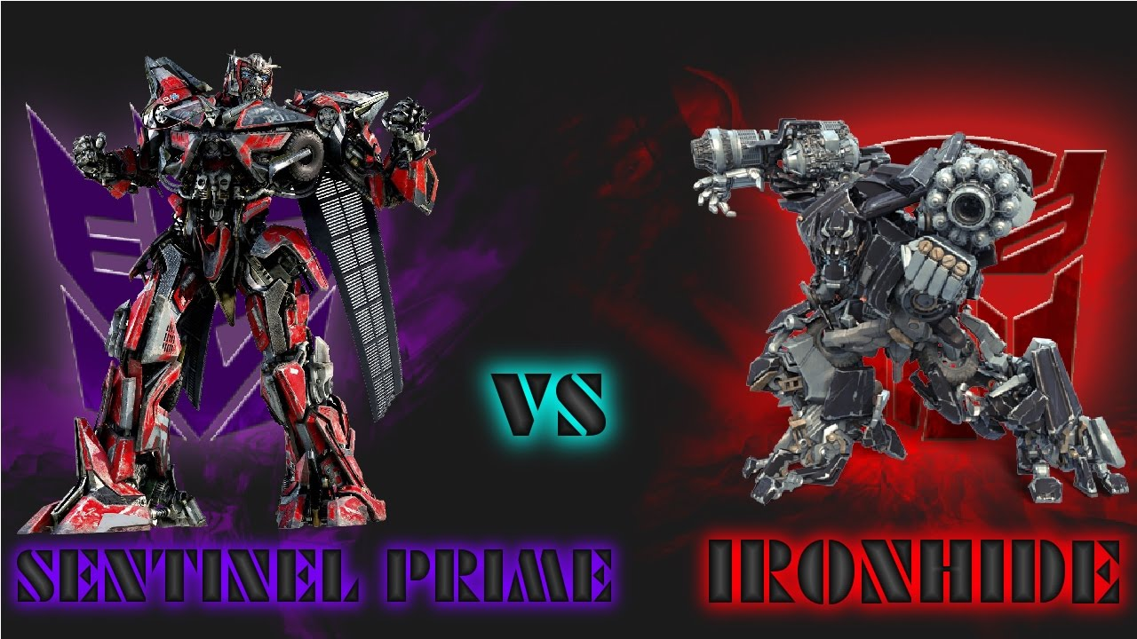 transformers battle; sentinel prime vs ironhide - youtube
