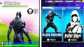 "*NEW* BLACK PANTHER ""SKIN"" COMING TO FORTNITE! BLACK PANTHER SKIN UPDATE (FORTNITE)"