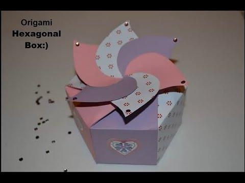 Cardboard Hexagonal Box Diy Paper Crafts Tutorials 720p Youtube