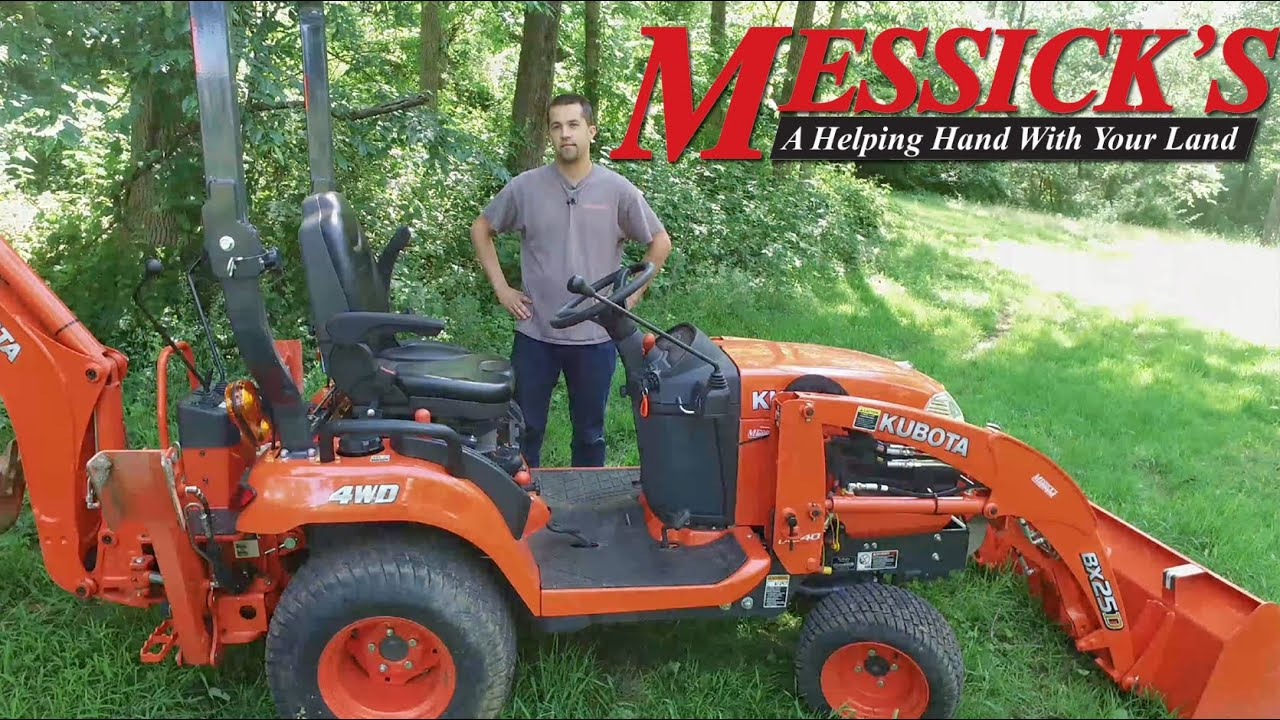 Kubota BX25 Operation and Overview