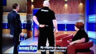 The Jeremy Kyle Show - Idiot Carried off Stage by Security!