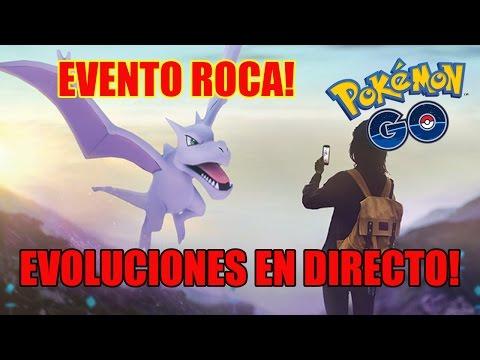 INFORMACIÓN DEL EVENTO ROCA Y EVOLUCIONES EN DIRECTO [Pokemon GO - Davidpetit]