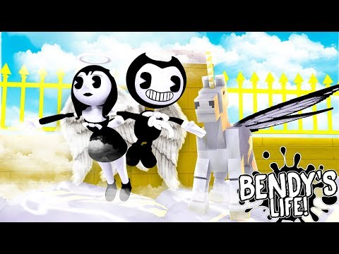 Minecraft BENDY'S LIFE    BENDY AND ALICE ANGEL ARE TRAPPED IN HEAVEN!!!