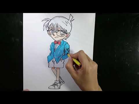 Cách vẽ conan thám tử lừng danh2/Ngọc NguyễnTV/vẽ nhân vật hoạt hình.