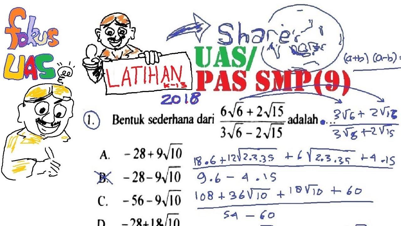 Soal Pas Uas Matematika Smp Kelas  Kisi Kisi Soal Uas Matematika Kelas 5 Semester 1 Kurikulum 2013