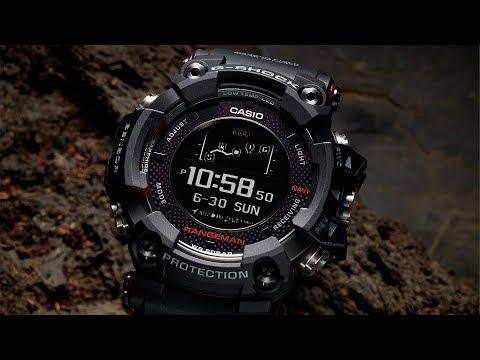 The first solar-assisted G-Shock with the GPS Navigation System