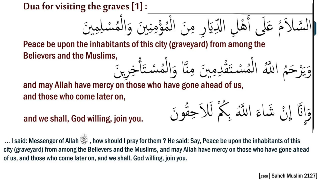 visiting graves in islam