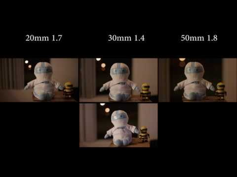 GH2 Lumix 20mm Sigma 30mm Canon 50mm lens comparison.