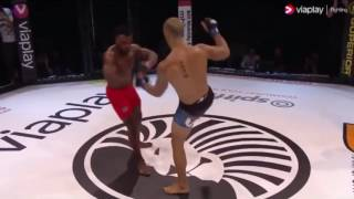 Crazy mma head kick ko  - dylan andrews brutally ko's papy abedi | sporthub