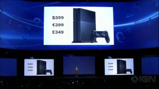 sony reveals playstation 4 price e3 2013 sony conference