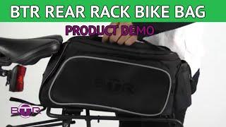 BTR Rear Rack Pannier Bike Bag. Water Resistant