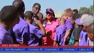 GraveDigga Football TV 2013: 10u CPT. VIKINGS vs OS TROJANS Featuing Coaches HeMan & The Queen