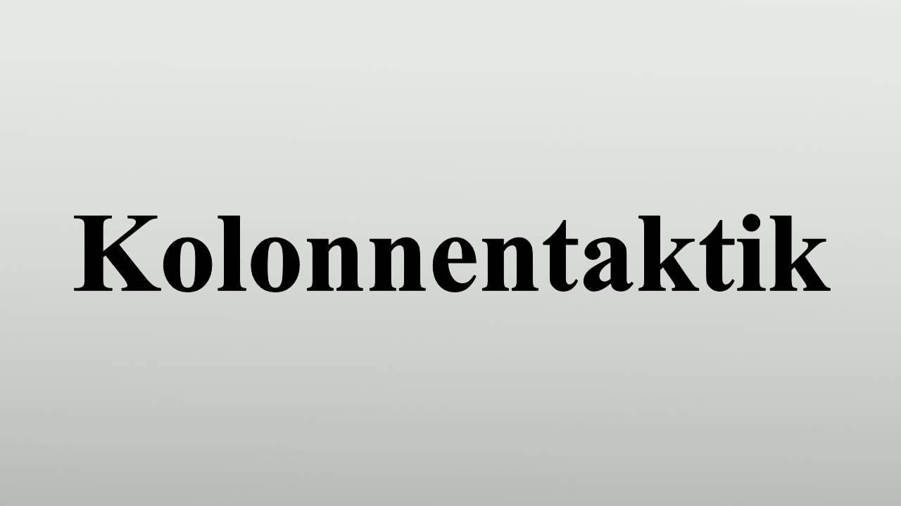 Kolonnentaktik