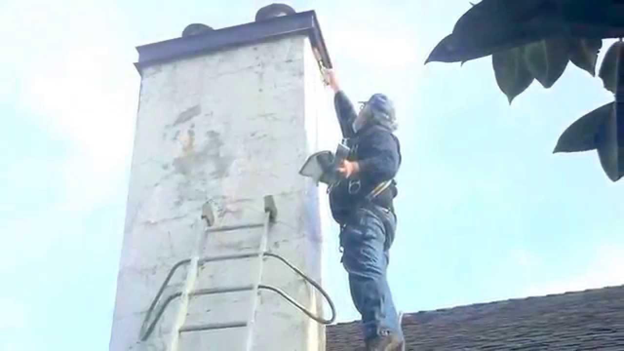 Elastomeric Coating Over Stucco Chimney Repair Crown