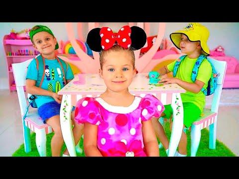 Диана и Рома на русском - Большой сборник историй про игрушки и приключения