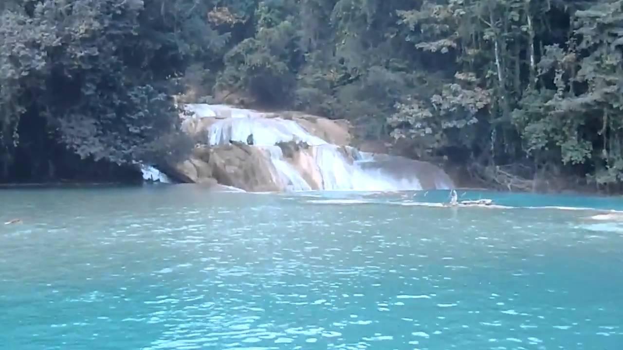 Las cascadas de agua azul en chiapas youtube for Motor para cascada de agua