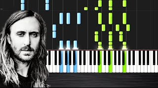 David Guetta - Hey Mama ft. Nicki Minaj - Piano Cover/Tutorial by PlutaX - Synthesia