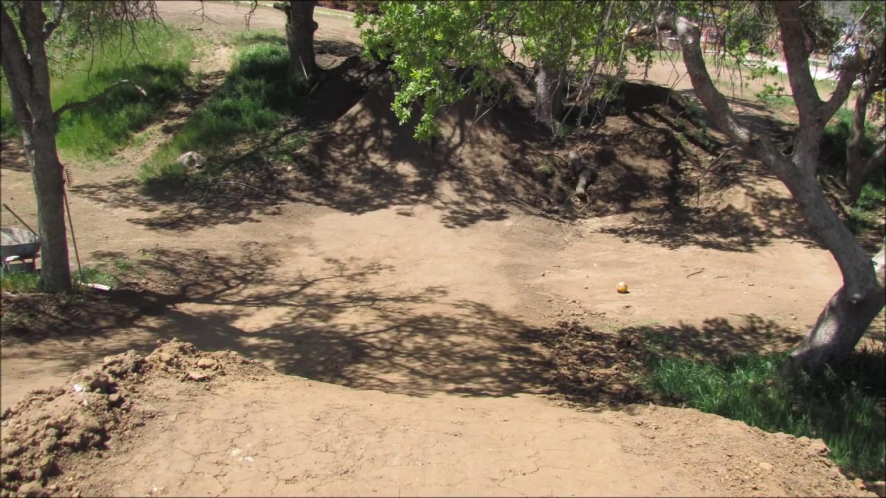 BMX Dirt Jumps In My Backyard GO PRO KIDZ - YouTube