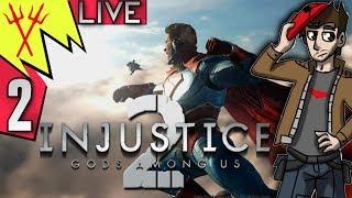 Injustice 2 Story Playthrough Part 2 LIVE ENDING (Batman) thumbnail
