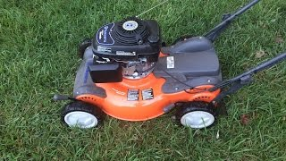 "Husqvarna 21"" Lawn Mower Model 55R21HV  Honda Engine  - Final Look & Start - Sept. 5, 2015"