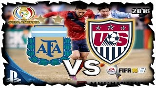 ESTADOS UNIDOS VS ARGENTINA 21 DE JUNIO 2016 SEMIFINAL DE LA COPA AMÉRICA CENTENARIO 2016 ONLINE PS4