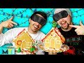 Men Try the ULTIMATE Gingerbread House Challenge - Blindfolded & No Thumbs Challenge!