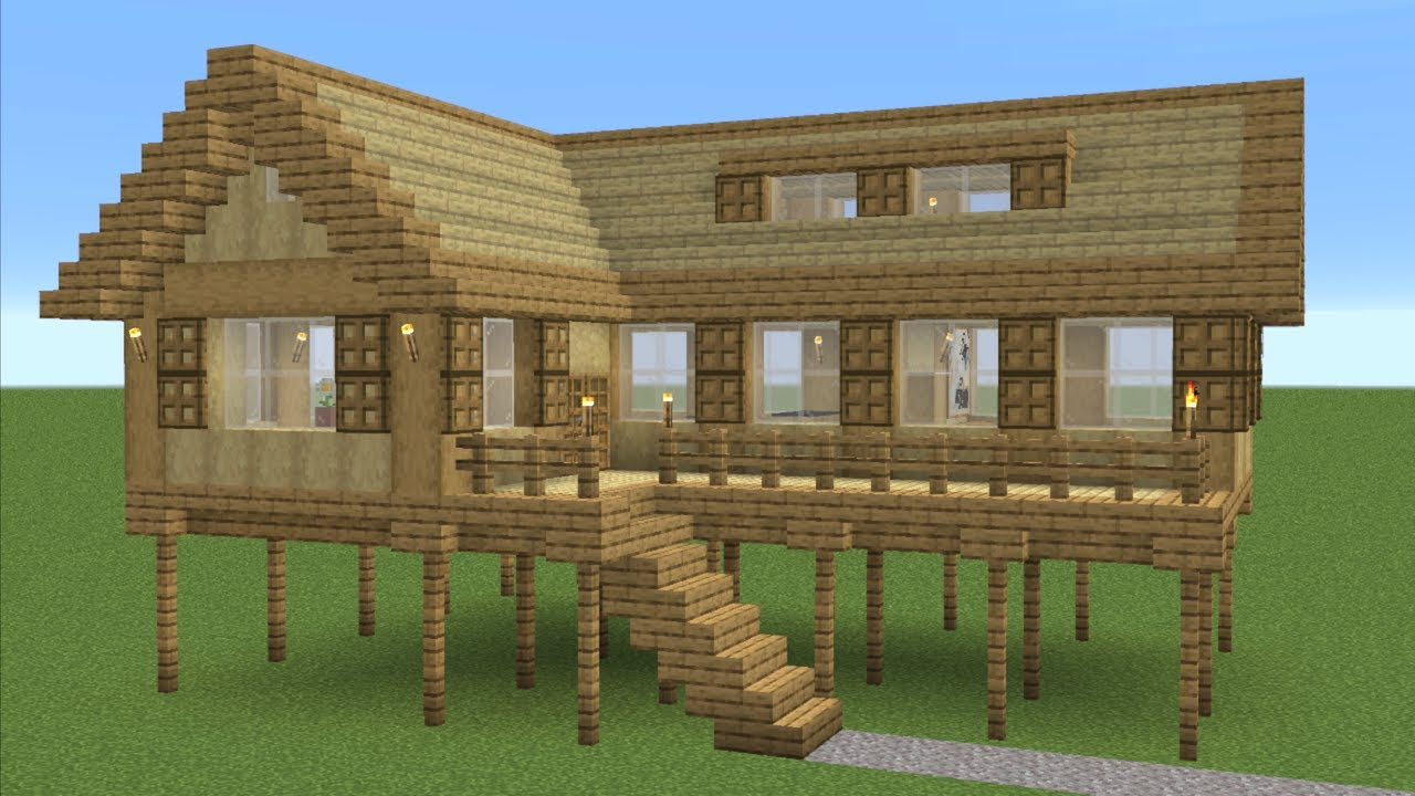 Minecraft - How to build an easy survival house (Beginner)