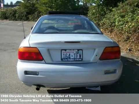 1996 chrysler sebring lxi 2850 at auto outlet of tacoma. Black Bedroom Furniture Sets. Home Design Ideas