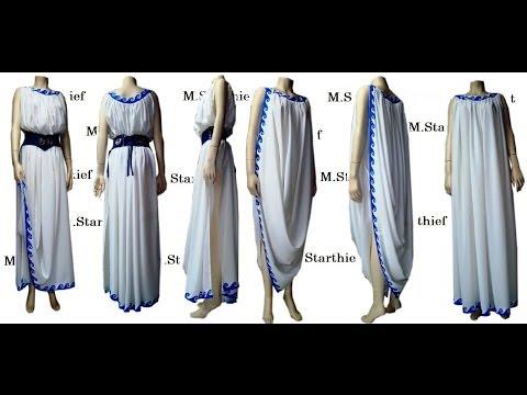 GREEK ANCIEND DRESS -ΜΑΡΙΑ ΣΤΡΑΤΑΚΗ- ΑΡΧΑΙΟ ΕΛΛΗΝΙΚΟ ΦΟΡΕΜΑ  - M.STARTHIEF -GREECE