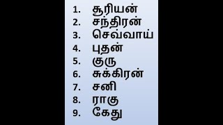 Astrology: The 9 Planets of Vedic Astrology | வேதகால ஜோதிடத்தின் 9 கிரஹங்கள்