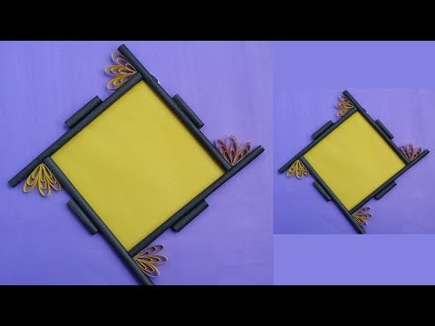 How to Make a Paper Photo Frame !! Easy Photo Frame Tutorial for Birthday Gift/Room Decoration !!!