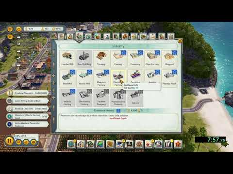Tropico 6 - Chocolate Factory Speedrun - Easy Difficultly in 18:45 |