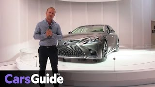 2018 Lexus LS revealed at the 2017 Detroit motor show   video