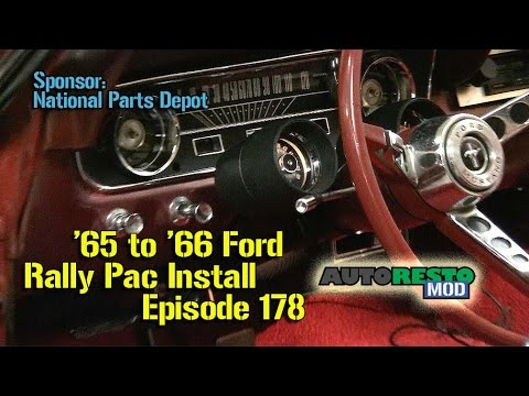 1965 1966 Ford Mustang Rally Pac Install How to Episode 178 Autorestomod  YouTube