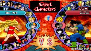 Full Characters List - Dragon Ball AF: Budokai HD