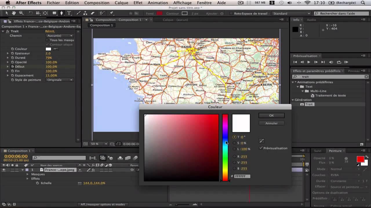 créer un itinéraire animé sur une carte Tuto AE, Créer un itinéraire sur une Carte   YouTube