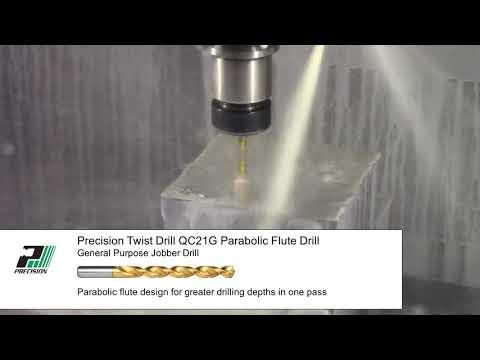Precision Twist Drill QC21G Parabolic Jobber-length Drill Bit