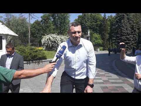 Кличко уехал с Рады на велосипеде