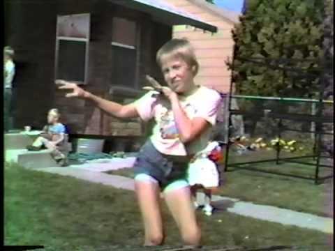 Visiting Grandma and Grandpa Ivie 1983