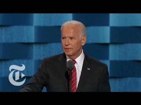 Joe Biden: Donald Trump Has 'No Clue' | Democratic Convention | The New York Times