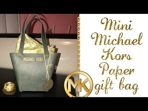 "Mini ""MICHAEL KORS"" PAPER PURSE gift bag"