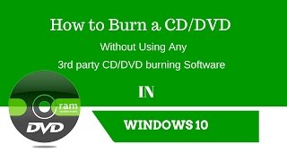 How to burn a CD/DVD in Windows 10 Using Windows Default CD/DVD Burning Program(Click here to subscribe https://goo.gl/gIfbcd Plz like my facebook Page -https://www.facebook.com/Shankhajana-937475936339743/ For WonderFOx DVD Video ..., 2015-08-13T16:32:11.000Z)