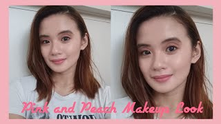 Pink and Peach Makeup Look Using Affordable Products