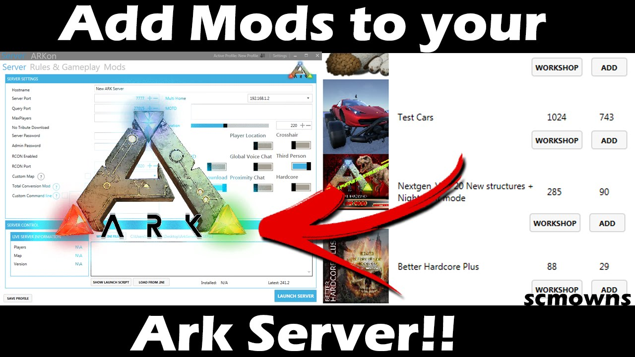 How To Install Mods On Your Ark Survival Evolved Server